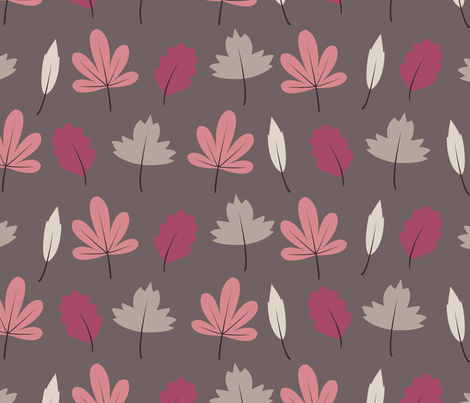 leaves fabric by troismiettes on Spoonflower - custom fabric