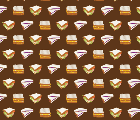 Sandwiches fabric by wildnotions on Spoonflower - custom fabric