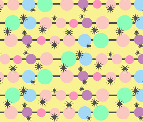 Lollipop yellow fabric by hipmama on Spoonflower - custom fabric