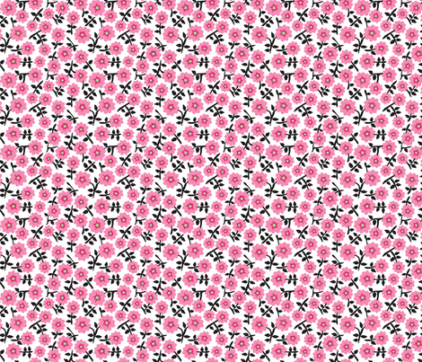 cherry blossom fabric by minimiel on Spoonflower - custom fabric