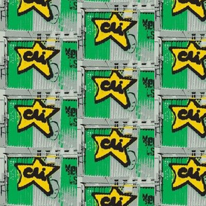 Star Power - green quilting version