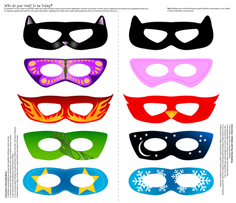 Who Do You Want to Be Today Masks fabric by jenimp on Spoonflower - custom fabric