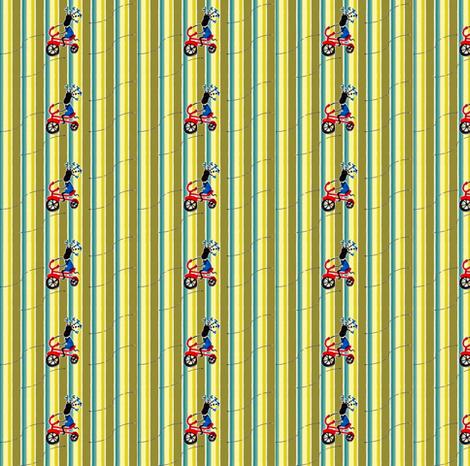 Feed Sack Girl-Stripe-304 fabric by kkitwana on Spoonflower - custom fabric