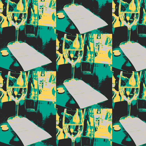 At the Cafe fabric by susaninparis on Spoonflower - custom fabric