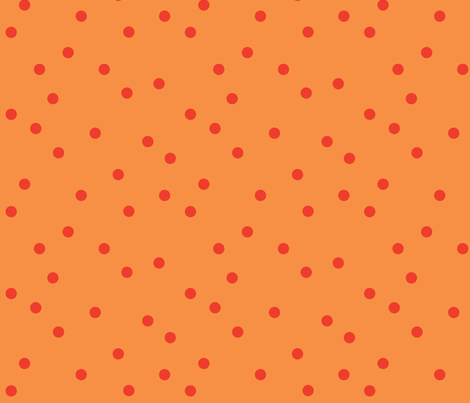 POLKA-DOTS carrot&tomato fabric by heatherrothstyle on Spoonflower - custom fabric