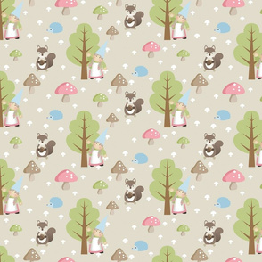 Woodland Friends - Pink