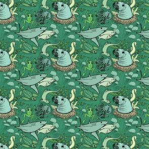 Marine life -- green