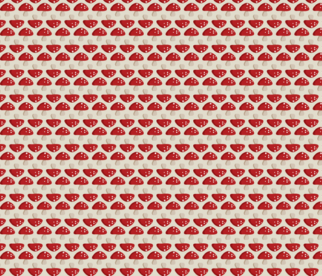Woodland Mushroom - Red fabric by inktreepress on Spoonflower - custom fabric