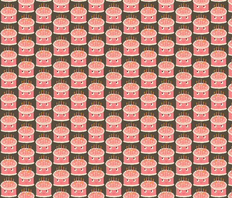 pink cake! fabric by heidikenney on Spoonflower - custom fabric