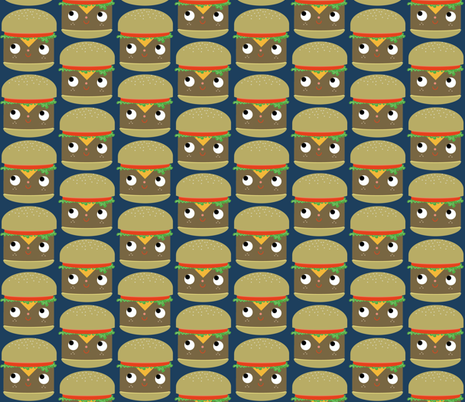 cheeseburger fabric by heidikenney on Spoonflower - custom fabric