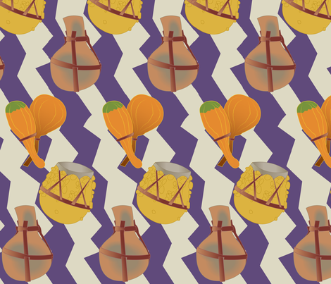 Hallowed Out  fabric by lowa84 on Spoonflower - custom fabric