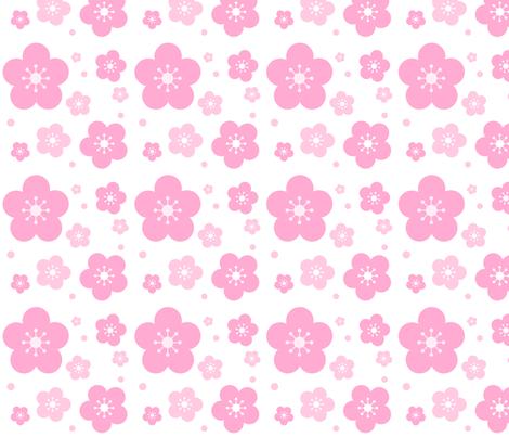 Cherry Blossoms fabric by katbrunnegraff on Spoonflower - custom fabric