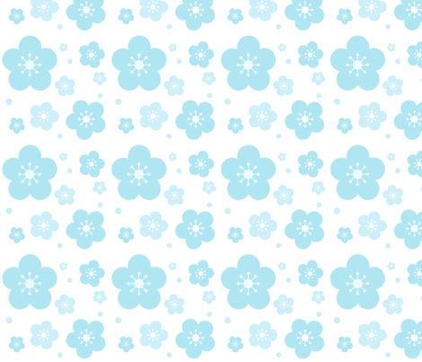 Iced Sakura Blossoms fabric by katbrunnegraff on Spoonflower - custom fabric
