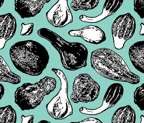 Gourds fabric by chris on Spoonflower - custom fabric
