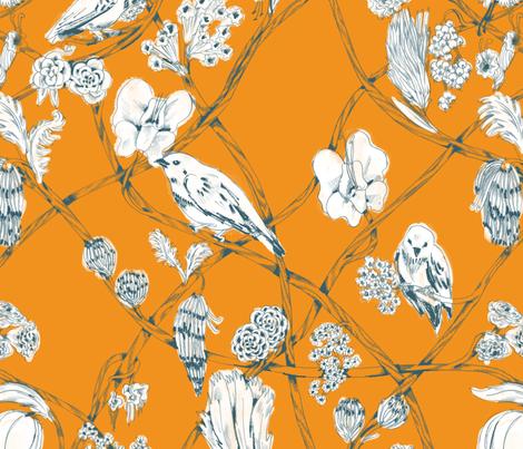 Anne - Mandarin fabric by gantpants on Spoonflower - custom fabric