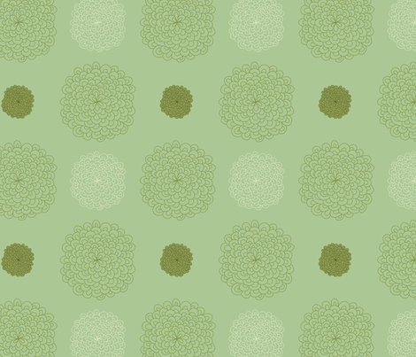 jungledelights puffs vintage green 2jpg fabric by fiona_mcdonald_juicyapple on Spoonflower - custom fabric