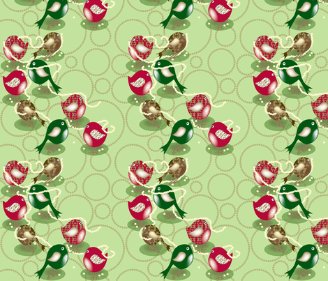 Popcorn Birds fabric by deesignor on Spoonflower - custom fabric
