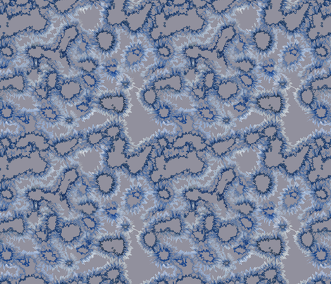 caffeine blue fabric by minimiel on Spoonflower - custom fabric