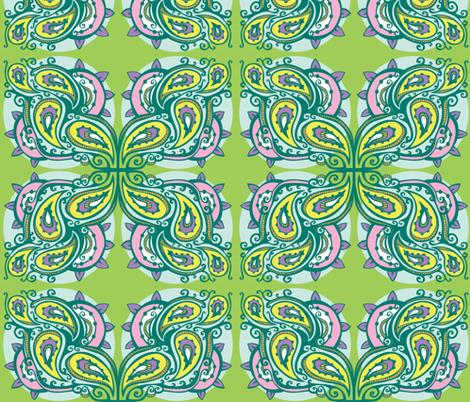 A Pastel Paisley fabric by tessiegirldesigns on Spoonflower - custom fabric