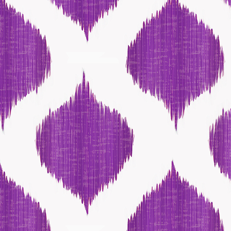 Lela Ikat in Regal Purple fabric by willowlanetextiles on Spoonflower - custom fabric