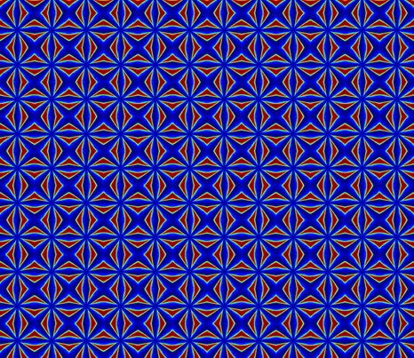 Warp Speed Groovy Red Blue fabric by kathsher on Spoonflower - custom fabric