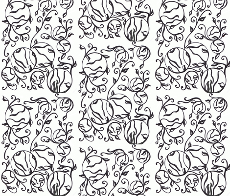 black_on_white fabric by charldia on Spoonflower - custom fabric