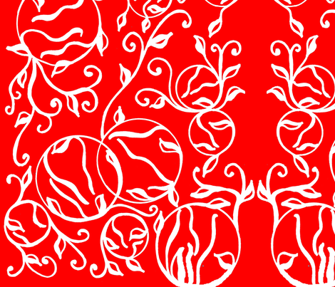 white_on_red fabric by charldia on Spoonflower - custom fabric