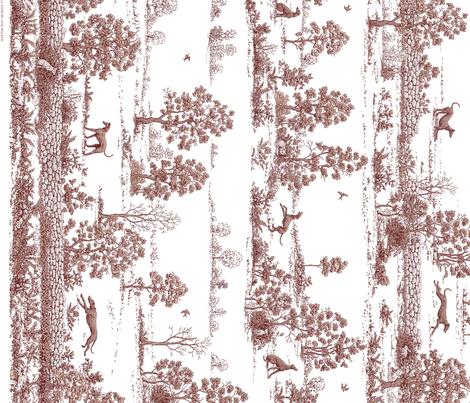 Brown Greyhound Toile Panel/Border ©2010 by Jane Walker fabric by artbyjanewalker on Spoonflower - custom fabric