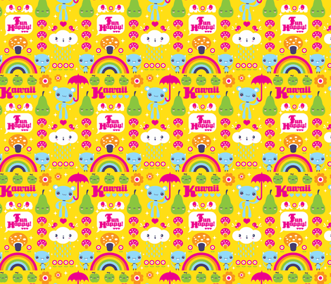 Super happy fun days! fabric by teamkitten on Spoonflower - custom fabric