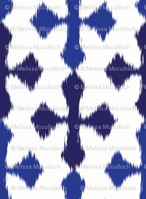 ikat stripe - blue