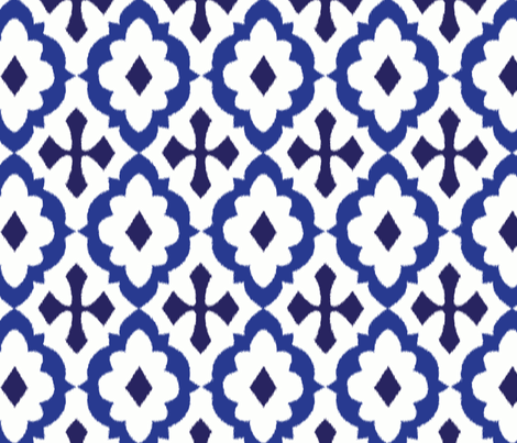 ikat - blue fabric by minimiel on Spoonflower - custom fabric