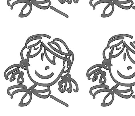 Meisje met staartjes fabric by suusig on Spoonflower - custom fabric