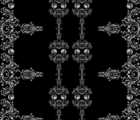 Gothic Moon fabric by whimzwhirled on Spoonflower - custom fabric