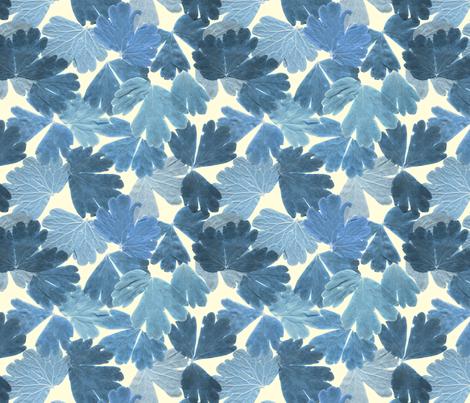 BLUE LEAF fabric by comfortablyblue on Spoonflower - custom fabric