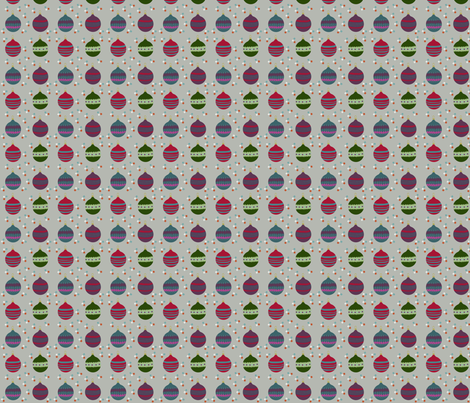 Christmas Baubles Small fabric by phatsheepfabrics on Spoonflower - custom fabric