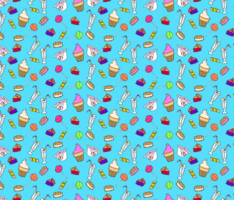 Snacks fabric by jadegordon on Spoonflower - custom fabric
