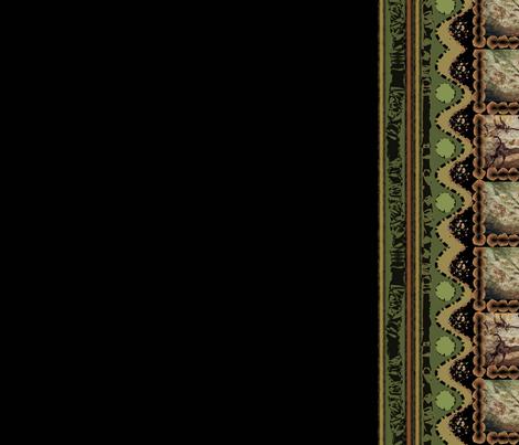 Hunters Center Panel Black fabric by karendel on Spoonflower - custom fabric