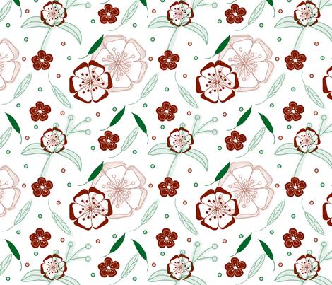 Autumn in the garden fabric by ancapandrea on Spoonflower - custom fabric