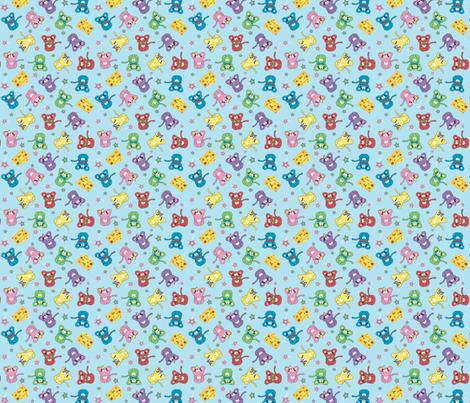 Cute Mice  fabric by mandyd on Spoonflower - custom fabric