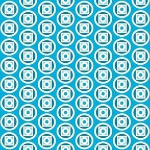 Circle takes the square blue