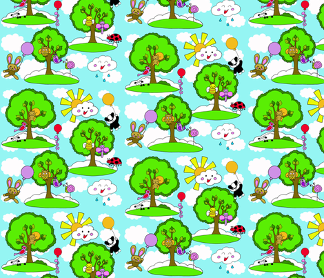 how does your kawaii garden grow? fabric by uzumakijo on Spoonflower - custom fabric