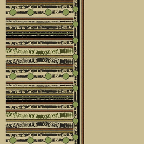 Hunters Stripe Border Beige