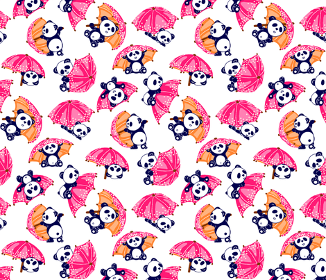 pandas BIG fabric by thelazygiraffe on Spoonflower - custom fabric