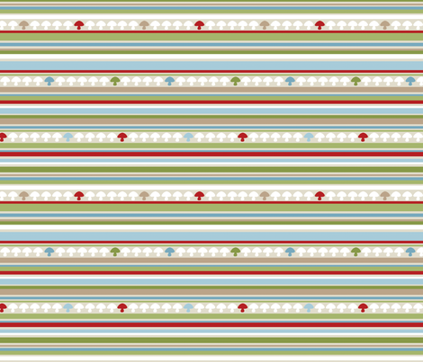 Woodland Stripe - Red fabric by inktreepress on Spoonflower - custom fabric