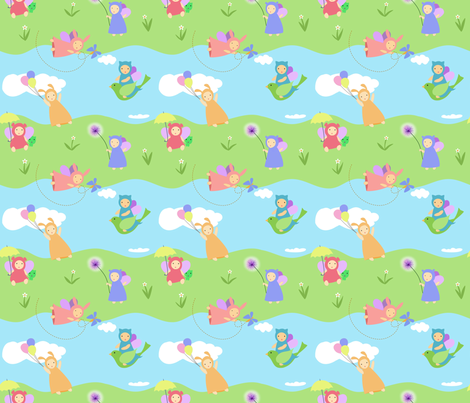 On a Sunny Afternoon fabric by vo_aka_virginiao on Spoonflower - custom fabric