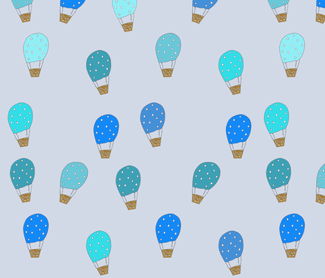 hotair_balloon_blue fabric by 5u5an on Spoonflower - custom fabric