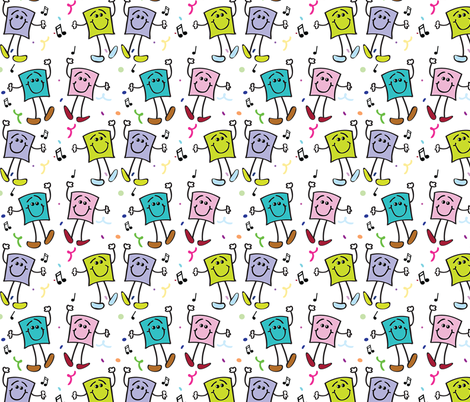 Squares Dancing fabric by donnamarie on Spoonflower - custom fabric