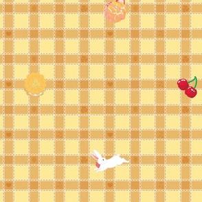Sweets n Bunnies Check - YELLOW/ORANGE