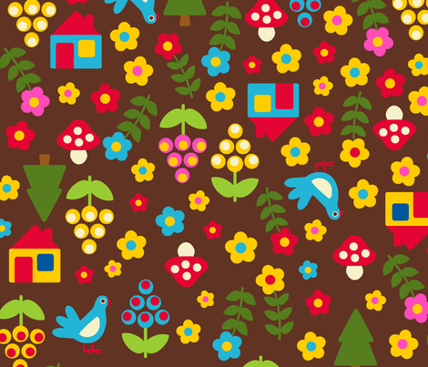 magic forest fabric by nadjagirod on Spoonflower - custom fabric