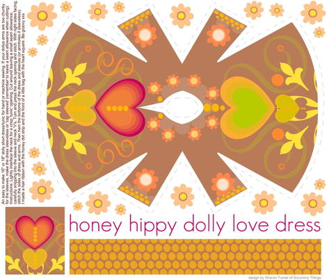 honey hippy dolly love dress fabric by scrummy on Spoonflower - custom fabric